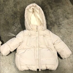 Zara Baby Cream Puffer Jacket